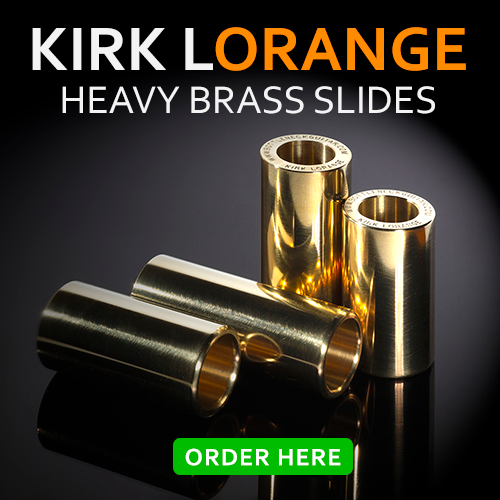 Brass guitar slides